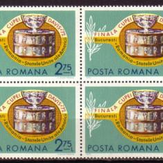 Romania L809.4x Finala Cupei Davis 1972 bloc 4 - Timbre Romania