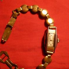 Ceas Dama Art Deco placat aur, marca RW si Ancora - Ceas de mana