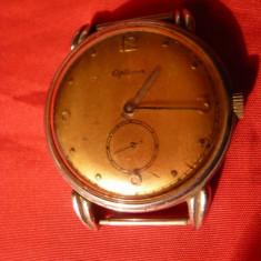 Ceas Art-Deco marca Optima -15 rubine -Elvetian, inoxidabil Fond Acier - Ceas de mana