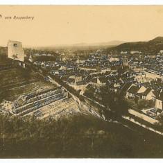 1399 - BRASOV, panorama - old postcard - used - 1916