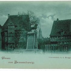 2499 - Germania - L I T H O - BRAUNSCHWEIG - - old postcard - unused