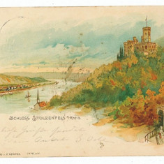 2579 - Germania - L I T H O - SCHLOSS STOLZENFELS - old postcard - used - 1904