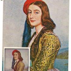 Ilustrata maxima-JOSEPH KARL STIELER-Portretul Rozei Botzaris, An: 1971