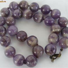 Colier vechi din ametist - de colectie - Colier perle