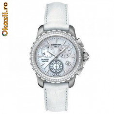 Ceas dama CERTINA DS First Lady DIAMONDS - 66 diamante fac diferenta, Piele, Analog