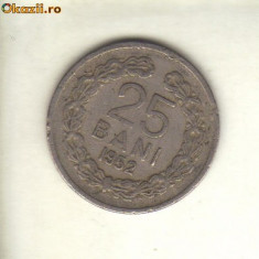 Bnk mnd romania 25 bani 1952 - Moneda Romania