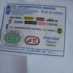 + Bilet tribuna II meci U Craiova - Vaslui + - Bilet meci