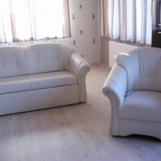 Canapea si fotolii piele eco - Set mobila living