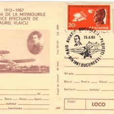 CP intreg postal aerofilatelie Raid aviatic Bucuresti - Ploiesti