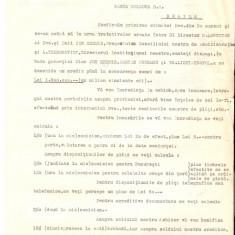 77 Document vechi fiscalizat-26martie1929- Banca Portului SA, prin Jon Eremie, Damian Popescu si Th.Lichiardopol(grec?), catre Banca Moldova, Braila - Pasaport/Document