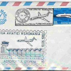 Plic special aviatie - Ziua aviatiei 1983 set 2 buc.