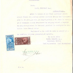 75 Document vechi fiscalizat-11noiembrie1929- Banca Moldova SA, prin M.Lowenton si F.Andelman, se adreseaza catre Banca Portului SA, Braila - Pasaport/Document
