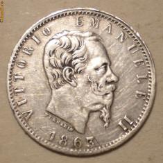 C.058 ITALIA VITTORIO EMANUELE II 20 CENTESIMI 1863 T ARGINT 0, 98g, Europa