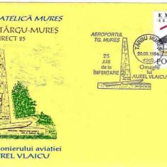 Plic special aviatie (set 2 buc) - Omagiu lui A. Vlaicu, Aeroportul Targu Mures-25 de ani de la infiintare