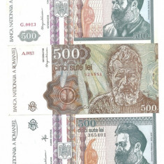 ROMANIA LOT BANCNOTE 500 LEI 1991 -1992 II - Bancnota romaneasca
