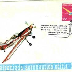 Plic special aviatie - Romania - campioana absoluta la balcaniada aeronautica Ankara 81