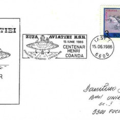 Plic special aviatie - Ziua Aviatiei RSR, Centenar Henri Coanda