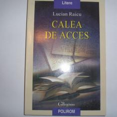 CALEA DE ACCES Lucian Raicu {polirom}, rf8/4 - Roman, Anul publicarii: 2004