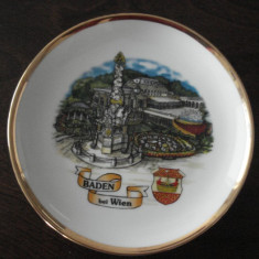 Farfurie decorativa din portelan - suvenir VIENA