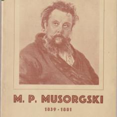 V. CRISTIAN - M. P. MUSORGSKI ( CAIET PROGRAM LA 75 ANI DE LA MOARTEA COMPOZITORULUI )