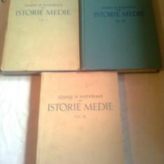 STUDII SI MATERIALE DE ISTORIE MEDIE 3 vol.( vol.1+2+3 ) - editie completa ~ BARBU T. CAMPINA
