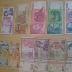 vand bani vechi pentru colectie din anii 1994,1993,1992,1989.