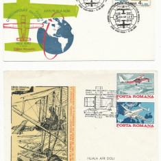 RFL 1980-1992 ROMANIA lot de 4 plicuri speciale cu tematica Aviatie - Plic Papetarie
