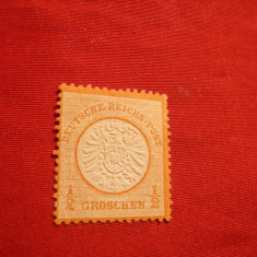 Timbru 1/2 Gr. orange 1872 IIa Emisiune Germania scut mare ,fara guma