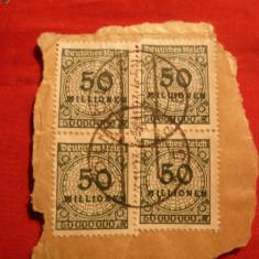 Fragment 2 Perechi 50 Milioane Marci 1923 Germania