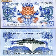 BHUTAN- 1 NGULTRUM 2006- UNC!! - bancnota asia