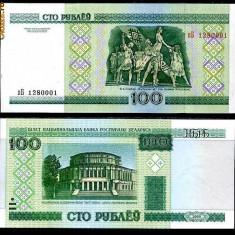 BELARUS- 100 RUBLE 2000- UNC!! - bancnota europa