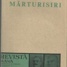 C.Radulescu-Motru / MARTURISIRI