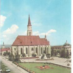 Carte postala- CLUJ - Catedrala Sf. Mihail - Carte Postala Transilvania dupa 1918