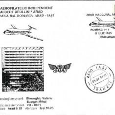 Plic aerofilatelie - Zbor inaugural Arad - Iasi