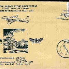 Plic aerofilatelie - Primul Zbor Arad - Iasi
