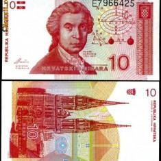 CROATIA- 10 DINARI 1991- UNC!! - bancnota europa