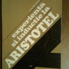 Experienta si Inductie la Aristotel-G.Vladutescu - Filosofie