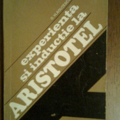 Experienta si Inductie la Aristotel-G.Vladutescu