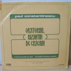 Oratoriul bizantin de Craciun - Paul Constantinescu - vinil dublu album - Muzica Religioasa