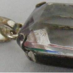 Medalion vechi din argint cu piatra - de colectie (3) - Pandantiv argint