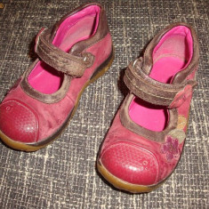 Pantofi Clarks marimea 6 - Pantofi copii Clarks, Fete, Piele naturala, Roz