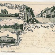 2163 - Litho, Alba, SEBES ALBA - old postcard - used - 1904 - Carte Postala Transilvania pana la 1904, Circulata, Printata