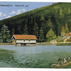 1661 - Maramures, VISEUL de SUS, boat on the lake - old postcard - used - 1926 - Carte Postala Maramures dupa 1918, Circulata, Printata