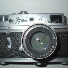 Aparat foto ZORKI 4 complet cu obiectiv - Aparat Foto cu Film Zorki, RF (Rangefinder)