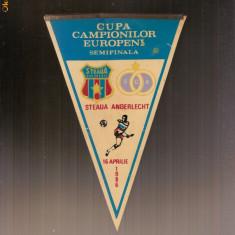 Fanion sportiv Steaua Bucuresti - Anderlecht  - semifinala 1986