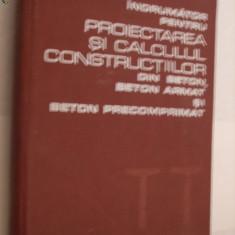 Indrumator pentru  PROIECTAREA SI CALCULUL CONSTRUCTIILOR  - Radu Agent - 1978