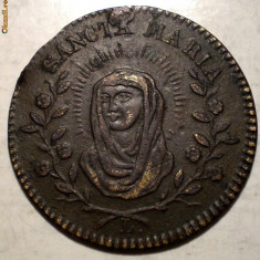 C.165 JETON RELIGIOS SFANTA MARIA BRONZ 1, 87g/20mm - Jetoane numismatica