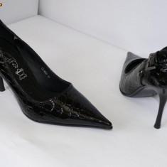 Pantofi femei , eleganti ,negrii (CIFA57 LL835 black)  REDUCERE EXCEPTIONALA DE PRET, 38, 40, Negru, Cu toc