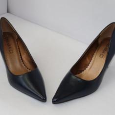Pantofi bleumarin , - (CHIARA 5629-8 blue), 38, 40, 41, Cu toc