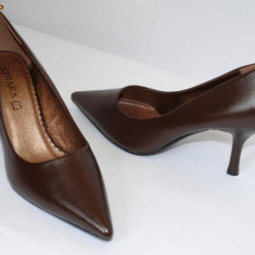 Pantofi femei ,maro ,  (CHIARA 5629-8 brown), 38 - 41, Cu toc
